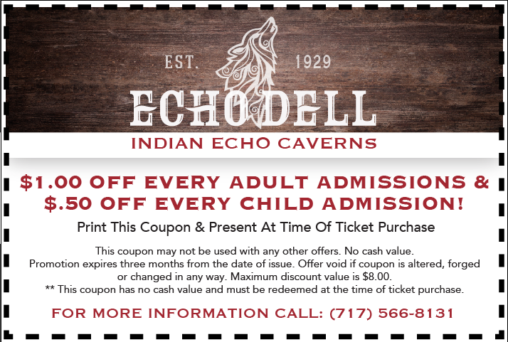 Indian echo caverns discount coupons