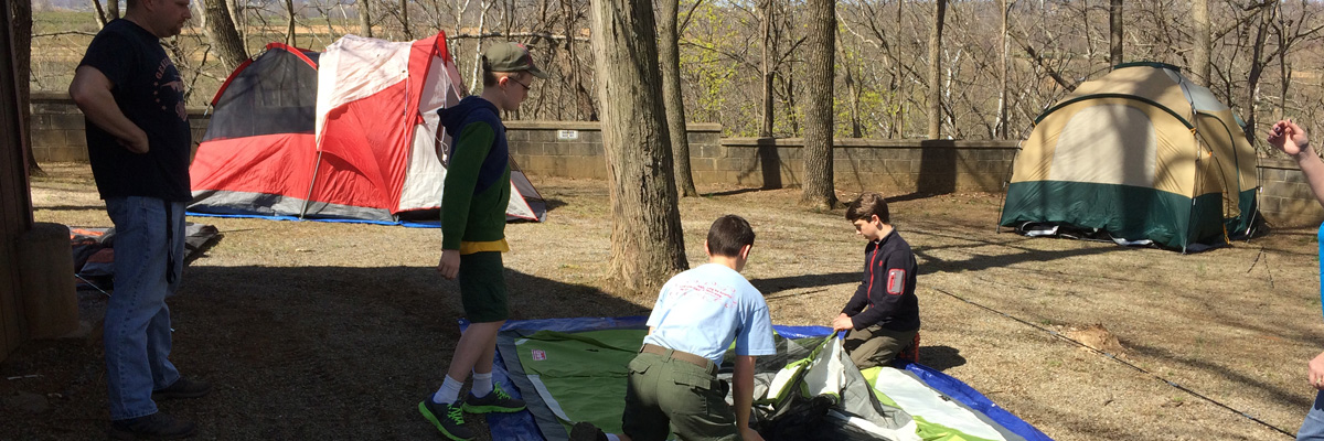 scouting / camping at Echo Dell